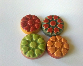 Tiles or made in Provence ceramic cabochons