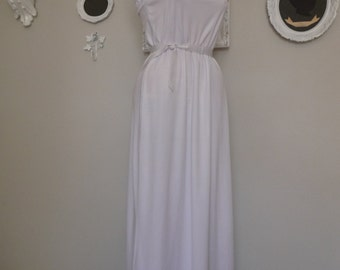 Vintage 1970s White Grecian Sundress