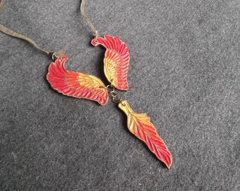 Phoenix wings made of leather handmade,leather goods
