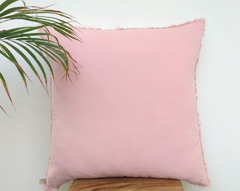 Blush Pink Throw Pillow Covers 20x20 Blush Pink Pillow Blush Pink Modern Pillow Blush Pink Decorative Cushions Blush Pink Throw Cushions