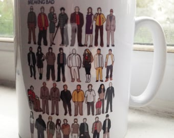 Breaking Bad cast illustration mug