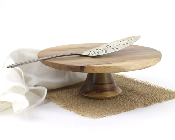 """9 1/4"""" Sweet Gum Cake Stand  Smash cake stand Wooden Pedestal Cake Plate Cupcake Stand"""