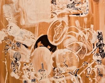 """11"""" by 17"""" print of """"The Rock People"""" painting"""