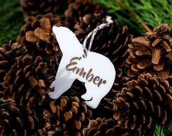 Personalised Polar Bear Christmas Baubles / Xmas Decoration / 1st Christmas / For Baby / Child / Family