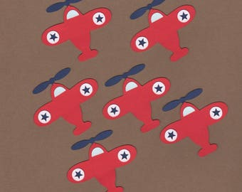 6 Plane Die Cuts for Embellishment - Paper Crafts - Card Making - Invitations Set 7023