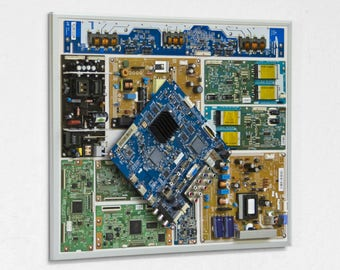 "Industrial, Computer, Circuit Board Picture Frame Wall Art (20.5"" x 16.5"")"