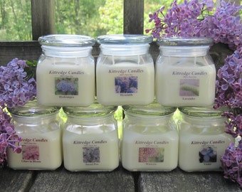 PURPLE FLOWER COLLECTION - 10oz Soy Jar Candle (15% discount)