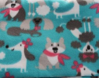 Fleece dog blanket  puppy printfree shipping