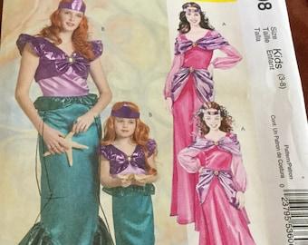 McCalls 5498 | Children's Mermaid Costume | Pattern size 3-8 | Pirates | uncut