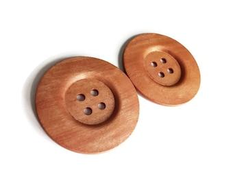 Bouton extra gros - 2 boutons géants en bois de 60mm