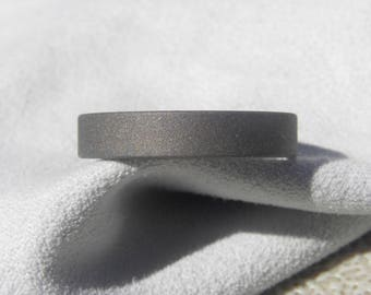 Titanium Ring, Flat Profile Band, Sandblasted Finish, Your Size/Width, Unisex Ring