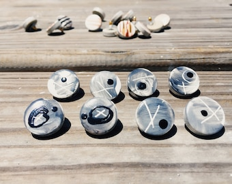 Retro Ceramic Earrings  - Handmade