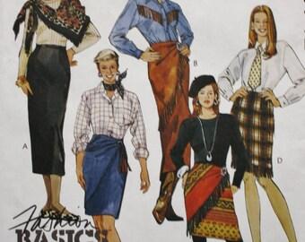 McCalls 6742 /High Waisted Straight Skirt Sewing Pattern / UNCUT