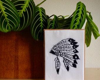 Art Cards---Stitched Indian Headdress