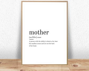 Mother Definition, Mother Print, Mothers Day Gift, Mother Gift, Mother Art, Mother Poster, Mother Quote, Mother Printable, Definition Print