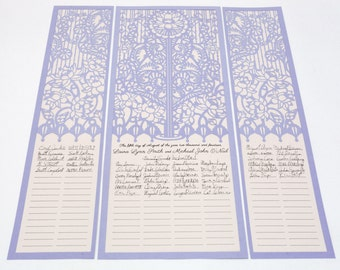 Lotus Design custom wedding certificate (inspired by the Quaker tradition)
