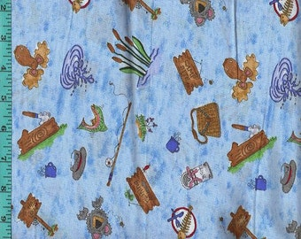 Summer Lodges Fabric, Quilt or Craft Cotton Fabric