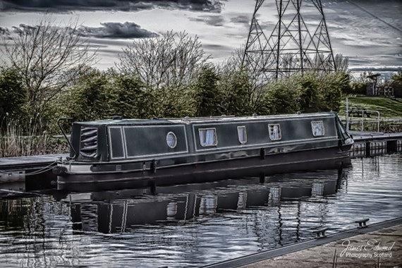 Narrowboat, Barge, Forth and Clyde Canal, Canal photography, Scotland, Falkirk, Edinburgh, Water photography, Wall Art, Wall Decor, Prints