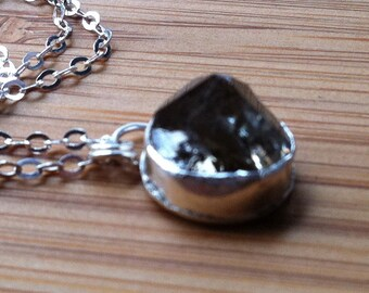Sterling Silver Pendant with Diamond