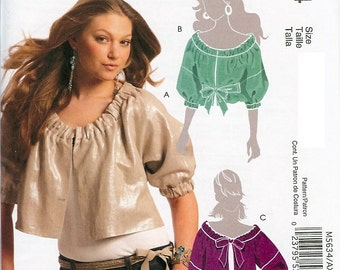McCall's Pattern M5634 Misses Unlined Jackets and Belt 4-12 UNCUT
