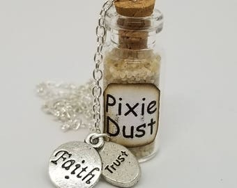 Pixie Dust Necklace, Faith, Trust, Peter Pan, Tinkerbell, Disney, Cosplay