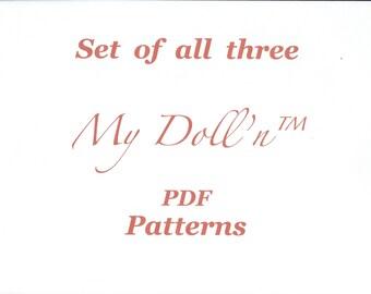 Set of all three My Doll'n™ PDF Patterns.