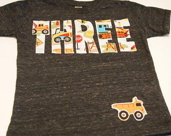 Construction truck birthday shirt bulldozer dump truck truck theme birthday party excavator