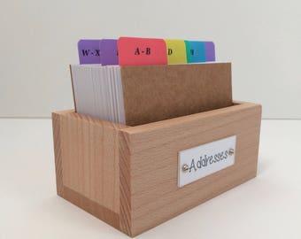 Wooden Address Box Organizer