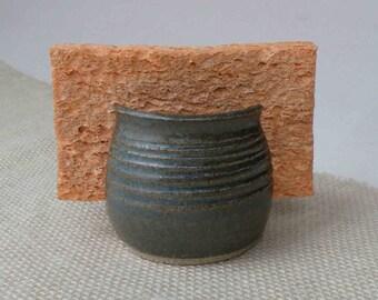Sponge Holder, Woodland Green, Gift for Her, Hostess Kitchen Gift, Pottery, Birthday Gift for Him