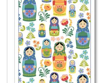 Nesting Dolls Greeting Card BP03