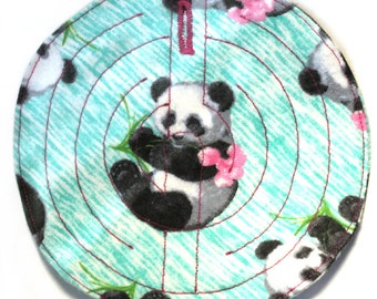 Fabric grounding maze for stimming and self-soothing-FLOWER PANDAS