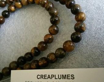 Set of 10 8mm Tiger eye beads