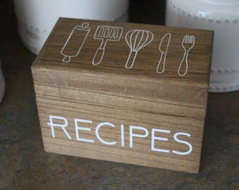 Recipe Box/ Recipes Box/ Recipe Holder