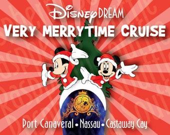 Disney Dream Bahamas Christmas Cruise Magnet 5x7