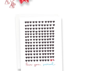 I Love You - Valentines Anniversary Card - Love You - Illustrated I Love you Card