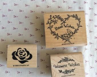 Stampin Up stamp, Love stamp, Heart stamp, Ribbon Heart stamp, Best Wishes stamp, Warmest Wishes stamp