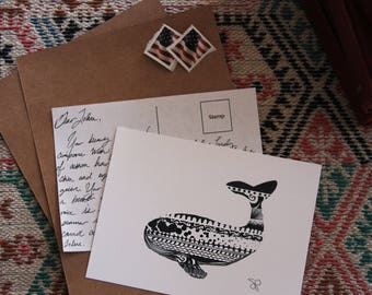 Whale Post Card (pack of 5)