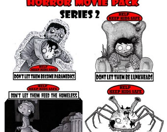 Safety Kid Stickers Horror series 2