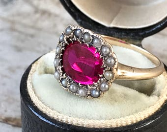 Antique Red Stone Ring