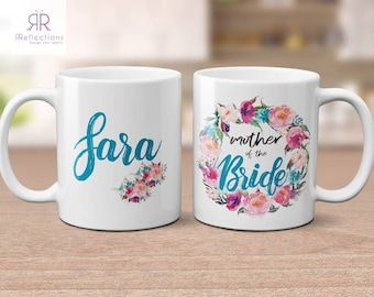 Personalized mug | Mother of the Bride gift | mother of the groom | gift for mum | personalised mug | gift | wedding gift | gift from bride
