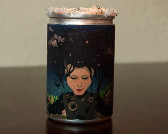 Edward Scissorhands in the Snow Candle
