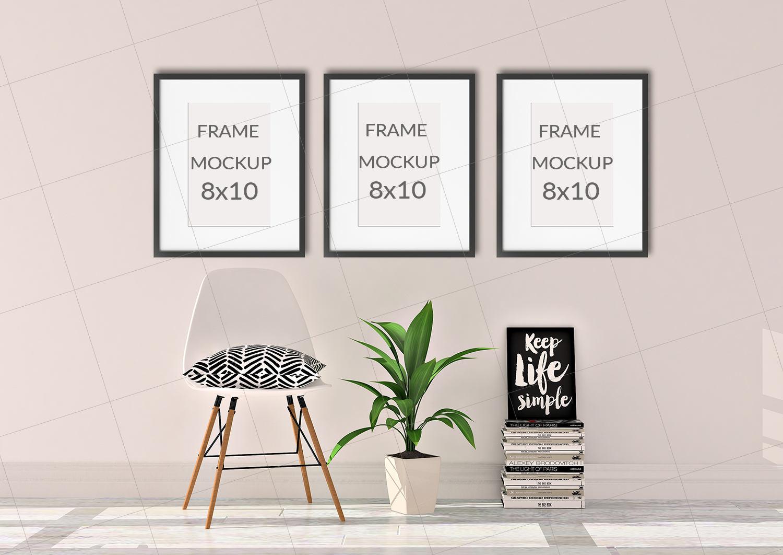 Set von 3 Frame Mockup 8 x 10 Print Mockup Poster Mockup