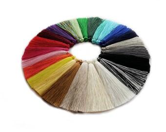 7cm Silk Mala Tassel Charm Pair UK & EU Stock, Artificial Silk Tassels,  High Quality Great for earrings, bracelets keyrings, home decor diy