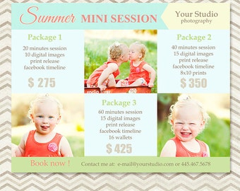 Mini Session - Photography Marketing Template - Summer Mini Session 014 - C047, INSTANT DOWNLOAD