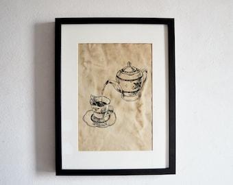 English Tea Print // Vintage Print // English Tea Time