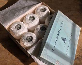 6 balls of yarn / plied for knitting / DMC / France / 50 grams / number 6 / 1950