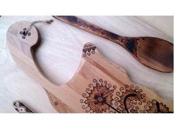 Greek embroidery cutting wood and utensils'set
