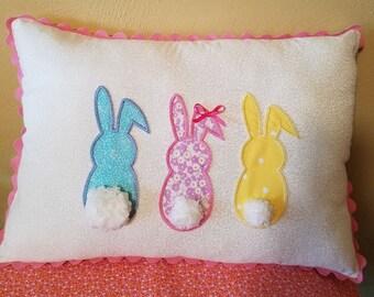 3 Bunnys Pillow/Easter/Holidays