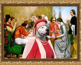 Dogo Argentino - Art - CANVAS - Print - Fine Artwork - Dog Portrait -  Dog Painting - Dog Art - Dog Print – Custom Dog Art