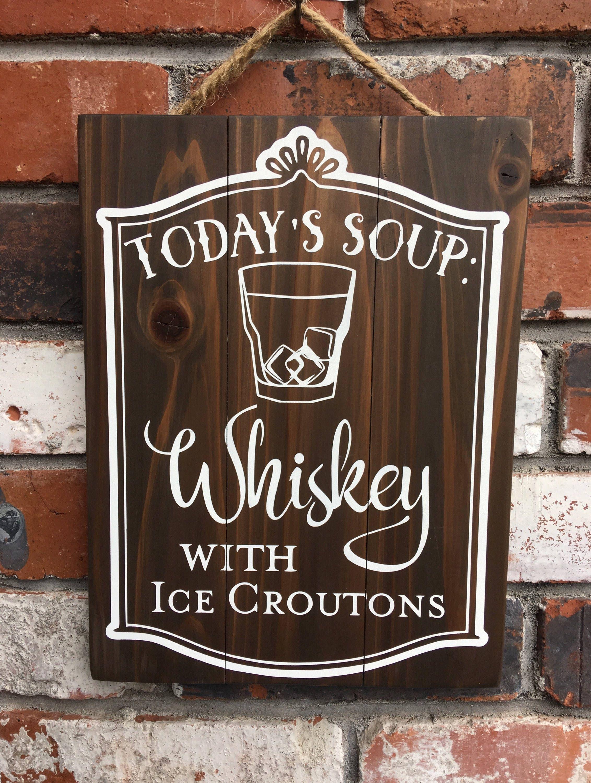 Die heutige Suppe Whisky Eis Croutons Bar Restaurant